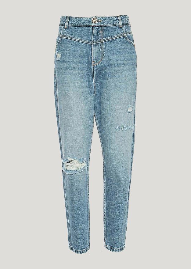 Kendall  denim trousers with distressed details