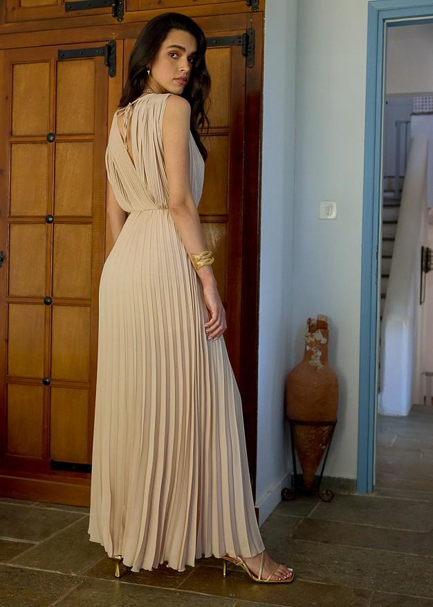 Maxi pleated dress