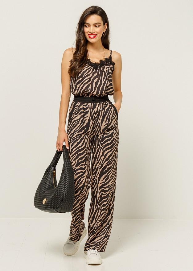 Zebra print trouser