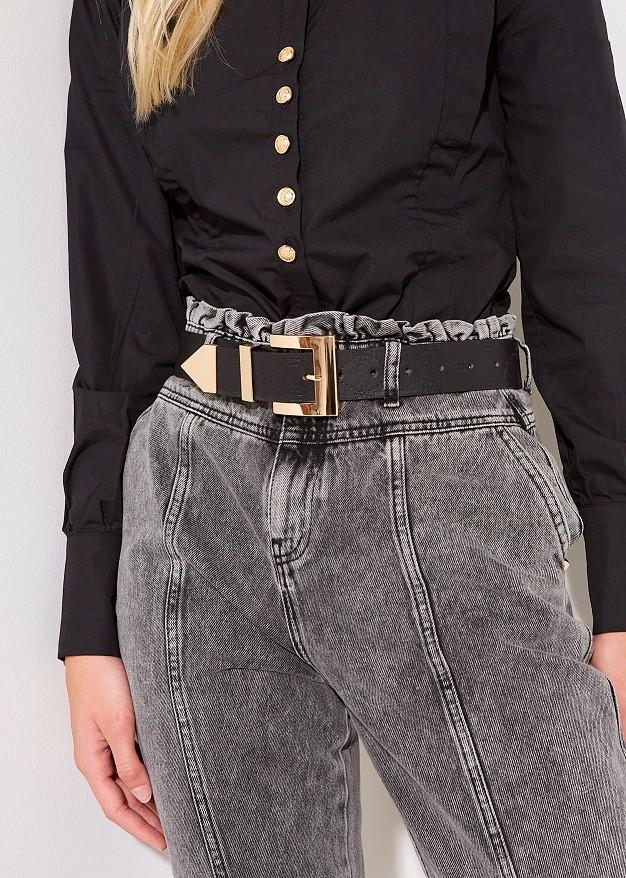 "Belt with logo ""Lynne"""