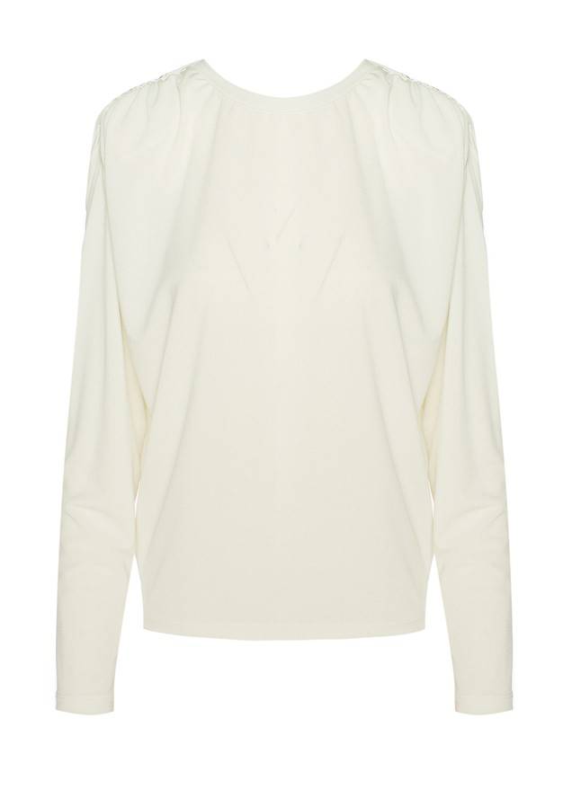 Long sleeve bouse with shoulder pads