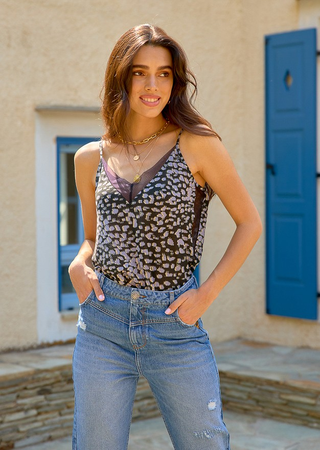 Camisole Blouse with tulle