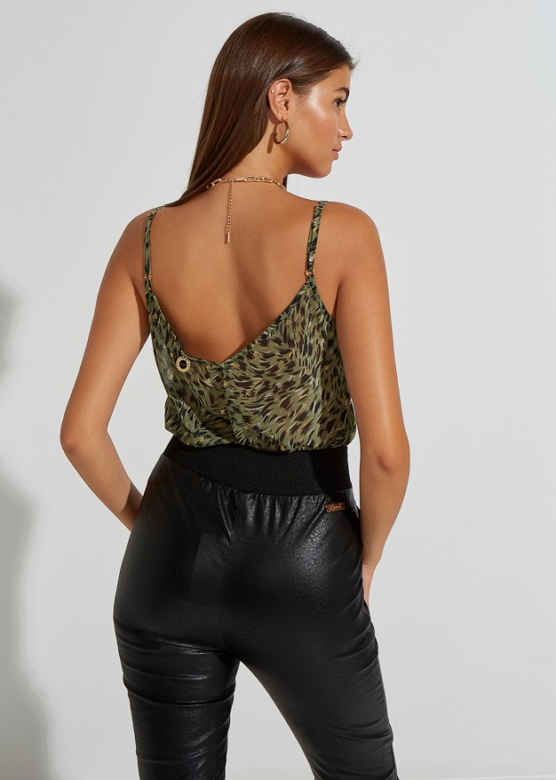 Lingerie top with lace detail