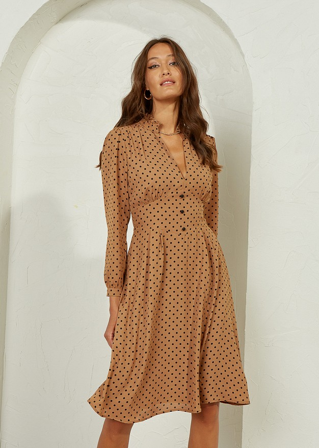 Polka Dot Dress with buttons