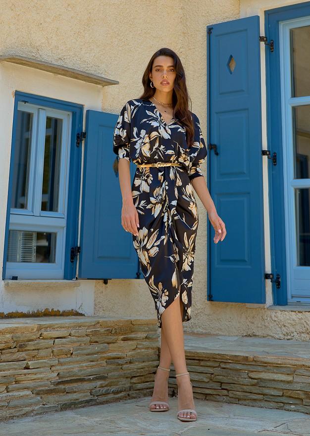 Μίντι φλοράλ φόρεμα