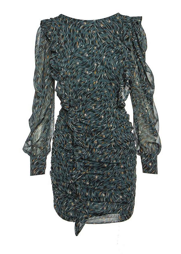 Mini dress with frill