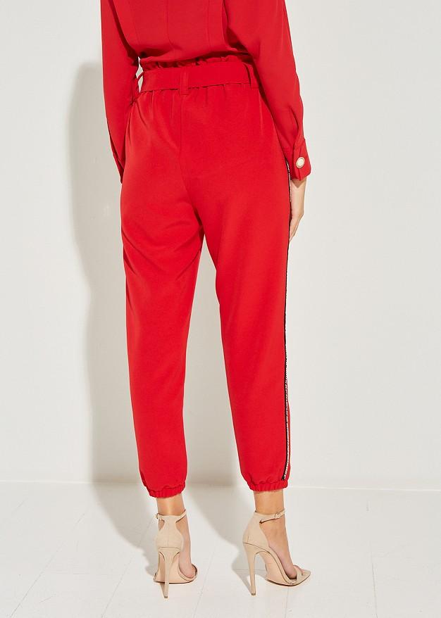 High waist trouser with snake print