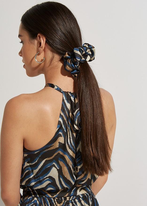 Animal print scrunchie