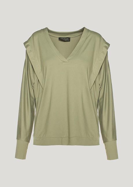 Μακρυμάνικη μπλούζα με βάτες