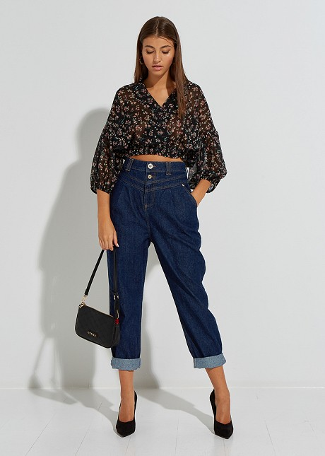 Baggy denim trousers