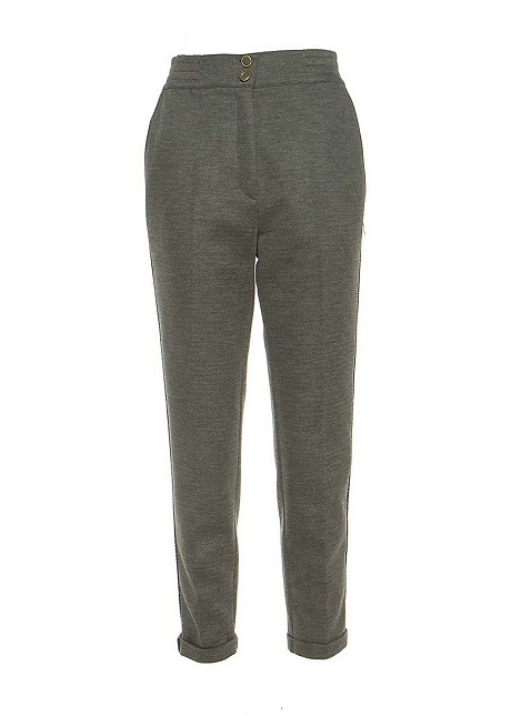 Trousers with lurex detail