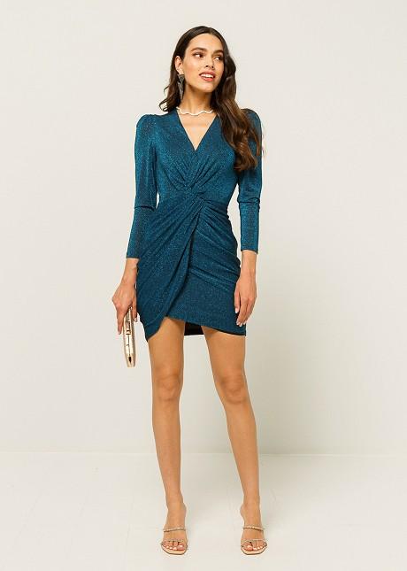 Lurex dress with knot detail