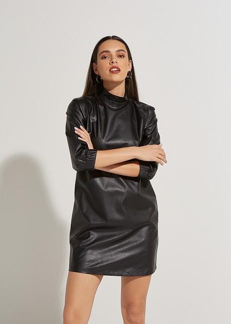 Leather look φόρεμα