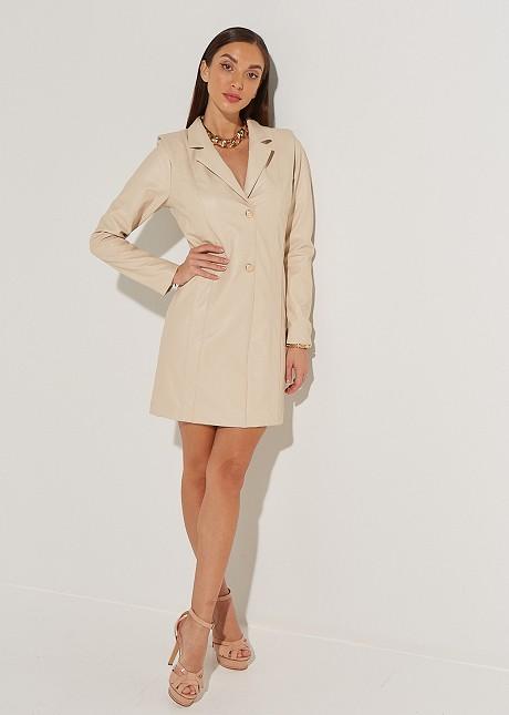 Leather look jacket dress