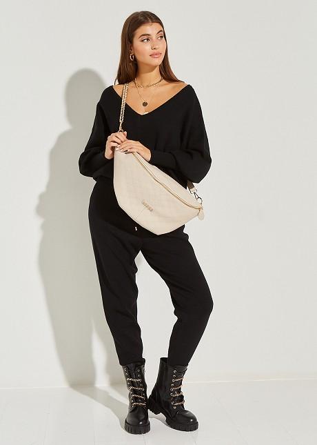 Плетен джогър панталон