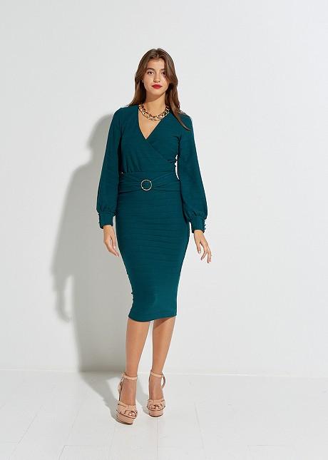 Midi φούστα με αγκράφα