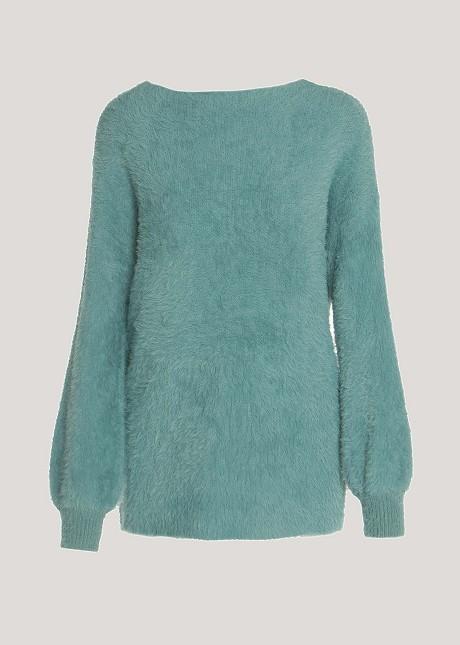 Плюшен пуловер