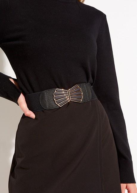 Elastic belt with buckle