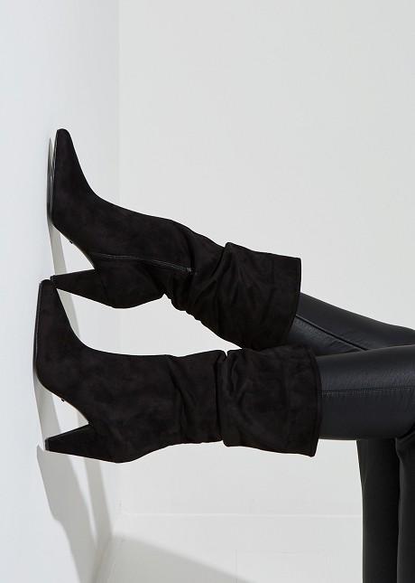 Suede look boots