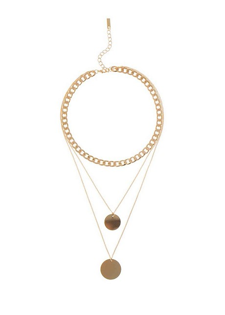 Necklace with layers