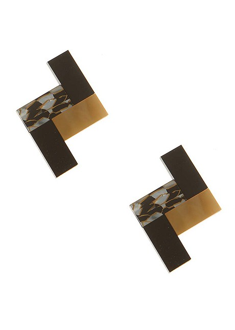 Σκουλαρίκια με συνδύασμό υλικών