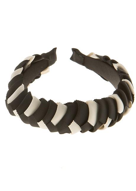 Black and white headband