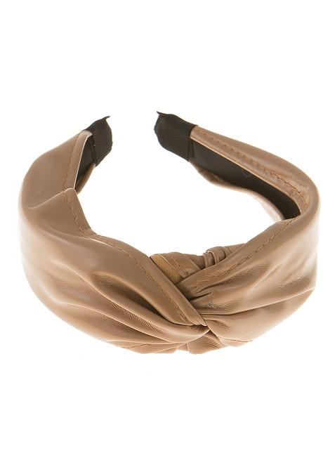 Leather look headband