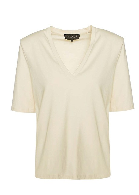 Basic blouse with shoulder pads