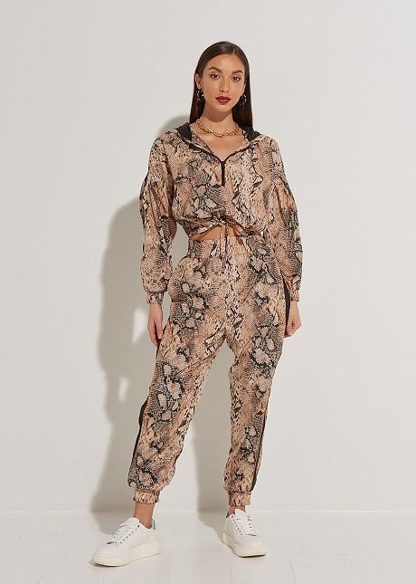 High waist snake print trousers