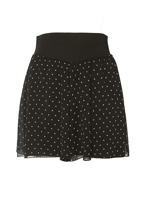 Shorts with stars print