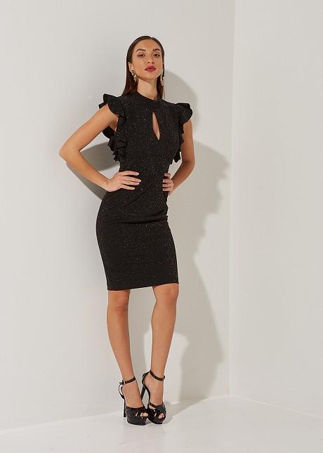 Lurex φόρεμα με βολάν
