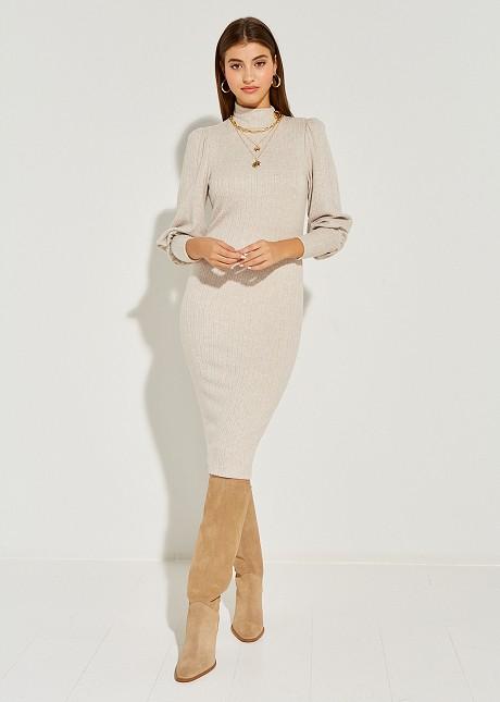 Πλεκτό φόρεμα ζιβάγκο
