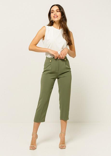 Скъсен панталон с басти