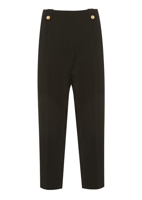 Crop παντελόνι με πιέτες