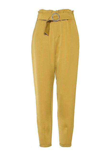 Υφασμάτινο παντελόνι με ζώνη