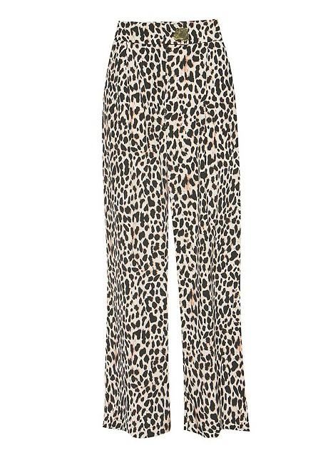High waist animal print trousers