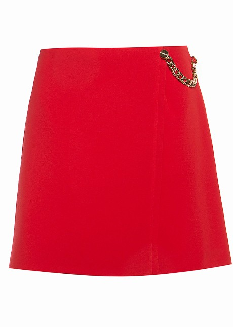 Skorts with decorative chains