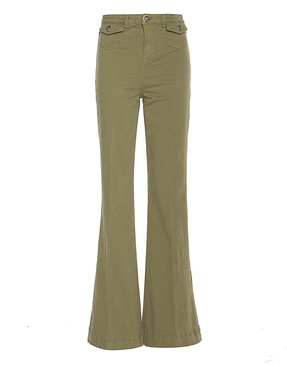 High waisted flared monster trousers