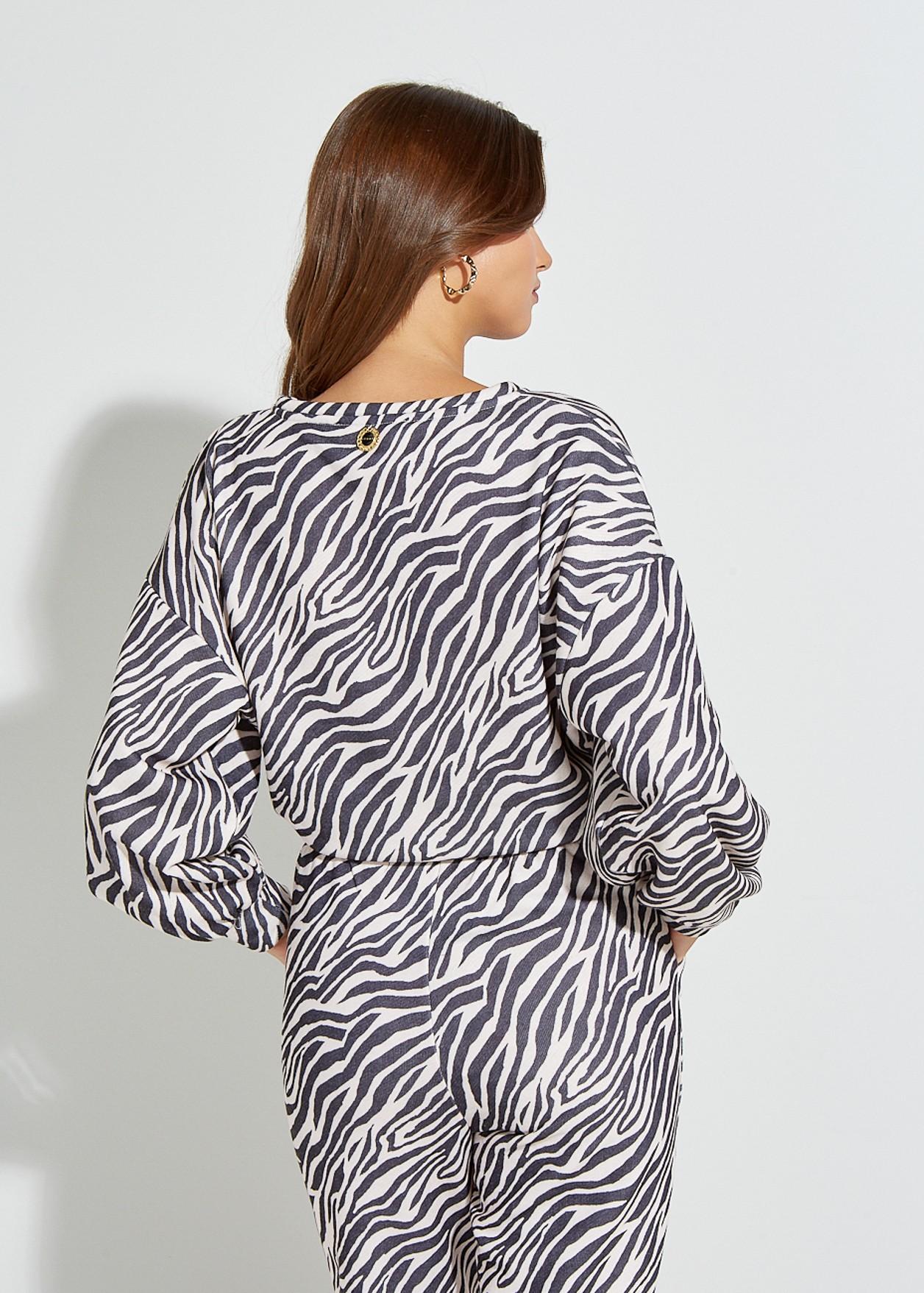 Αθλητικό φούτερ zebra print