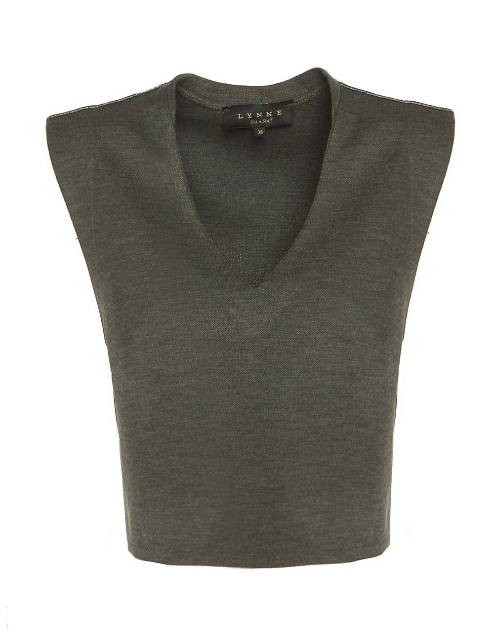 Monochrome crop blouse