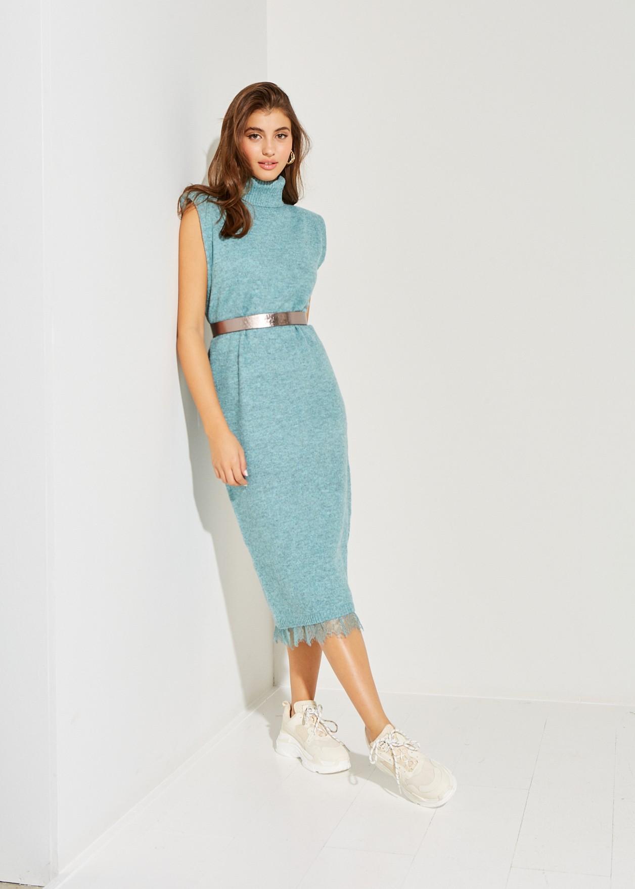Midi πλεκτό φόρεμα