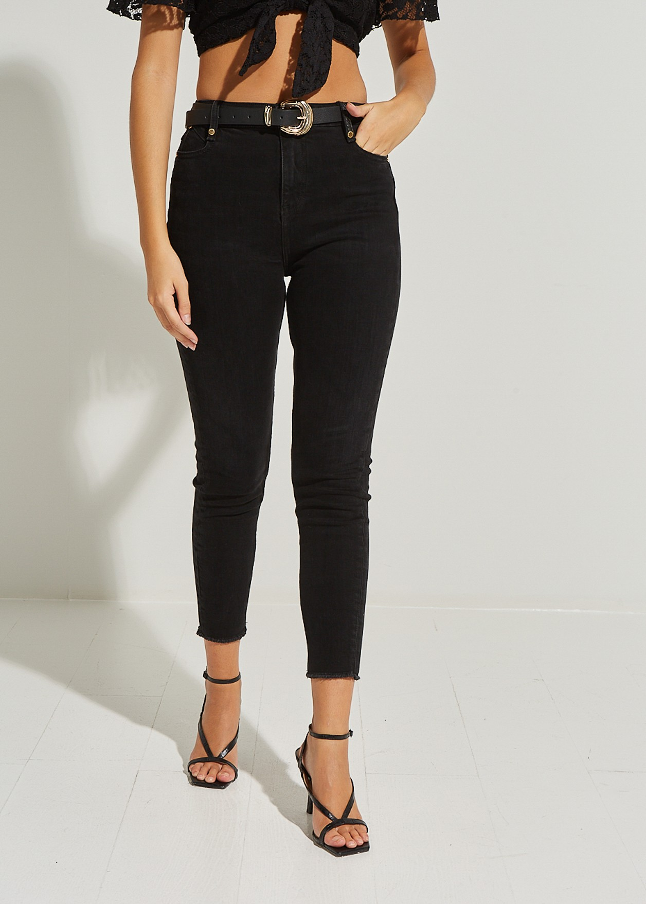 High waist denim trousers Amber