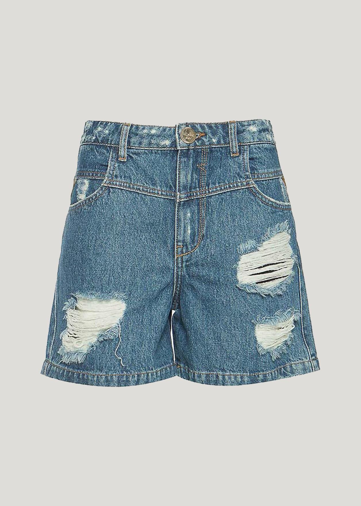 Дънкови къси панталони weiss