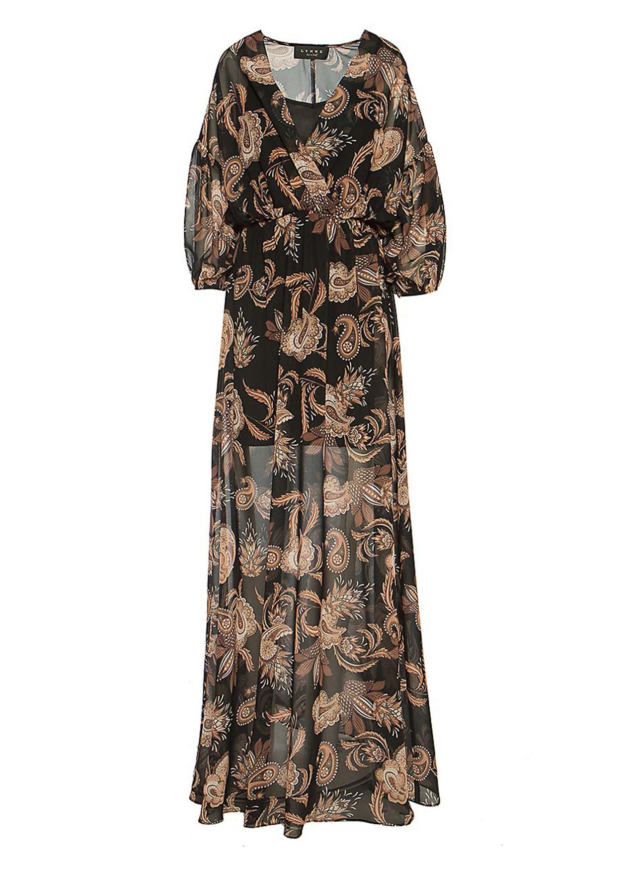 Paisley wrap dress
