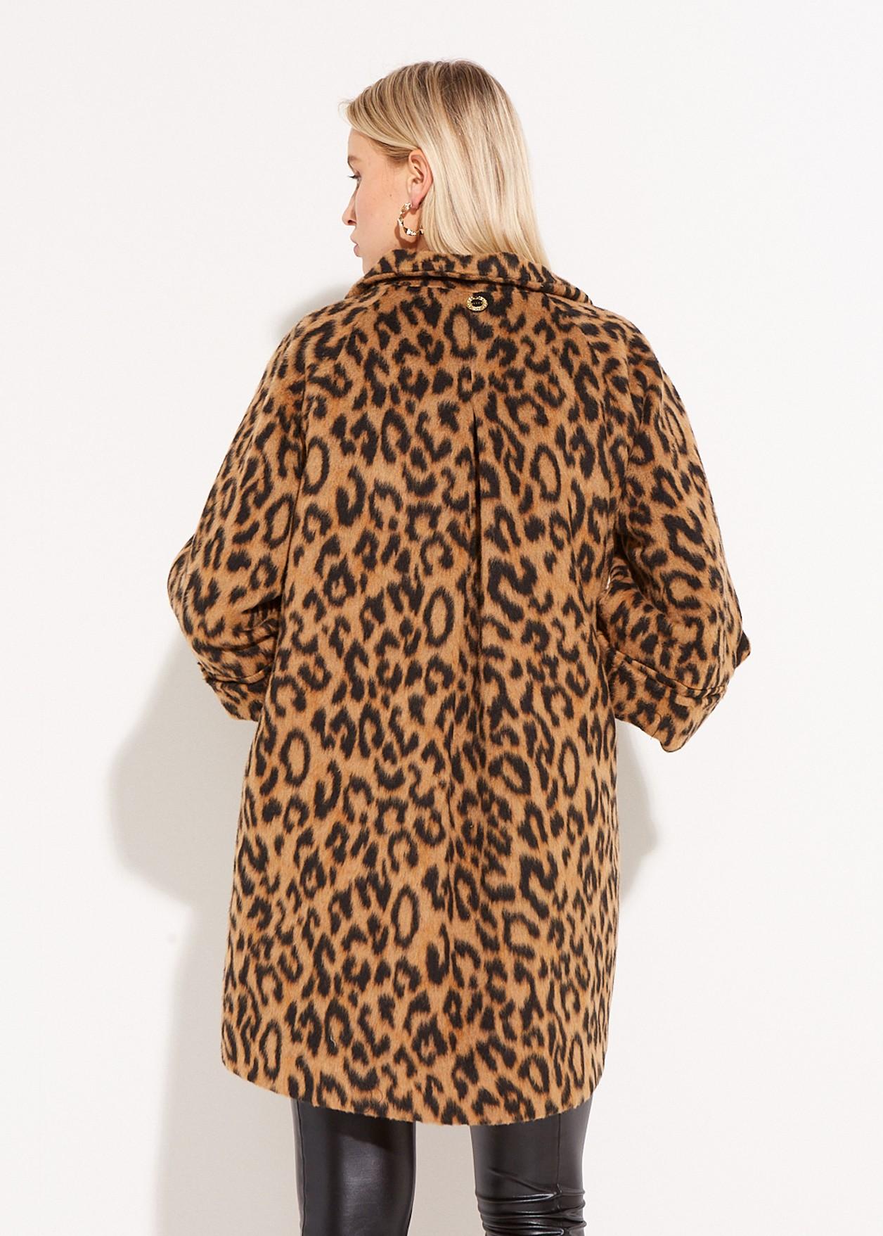 Animal print overcoat