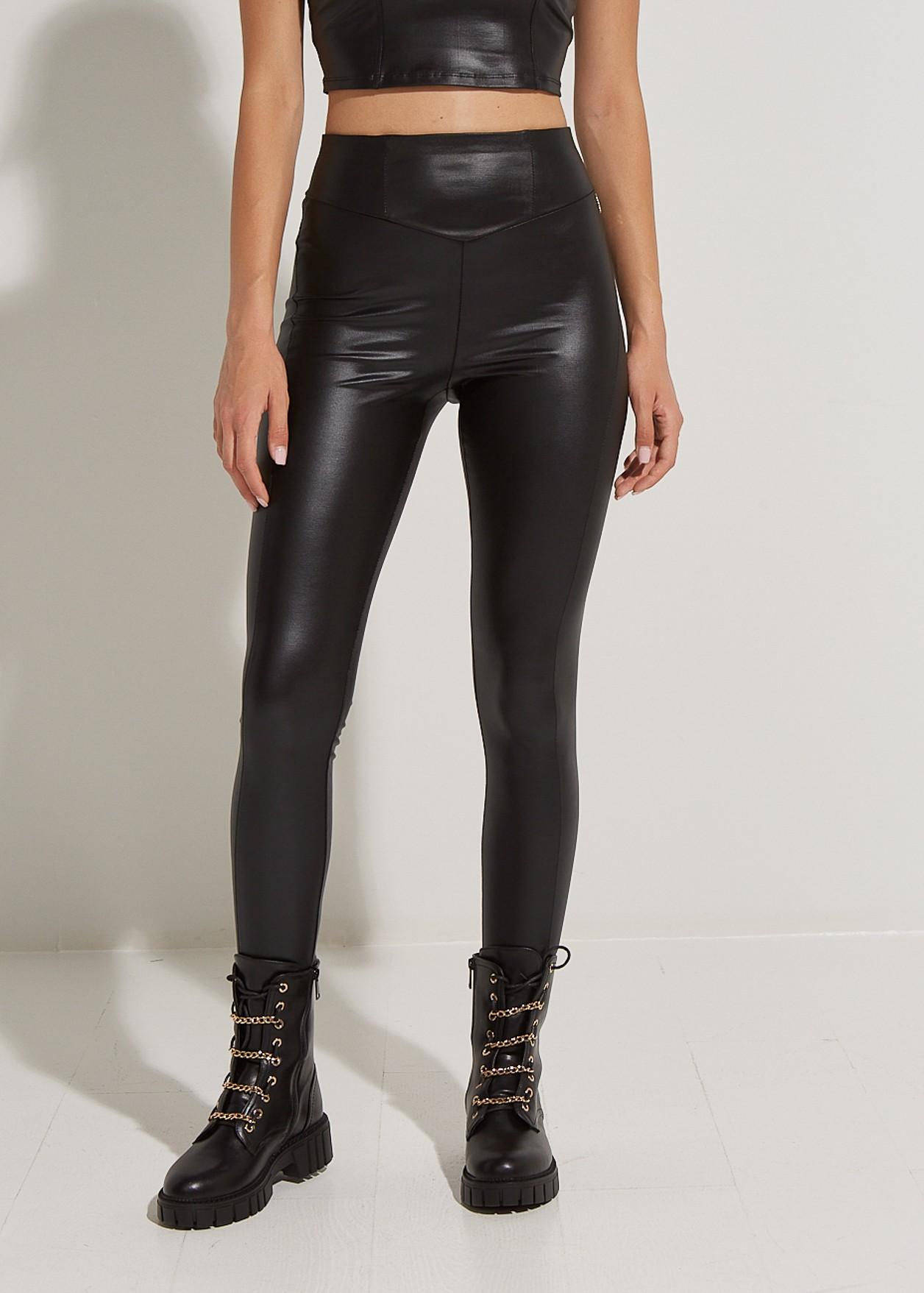 Leather look γυαλιστερό κολάν