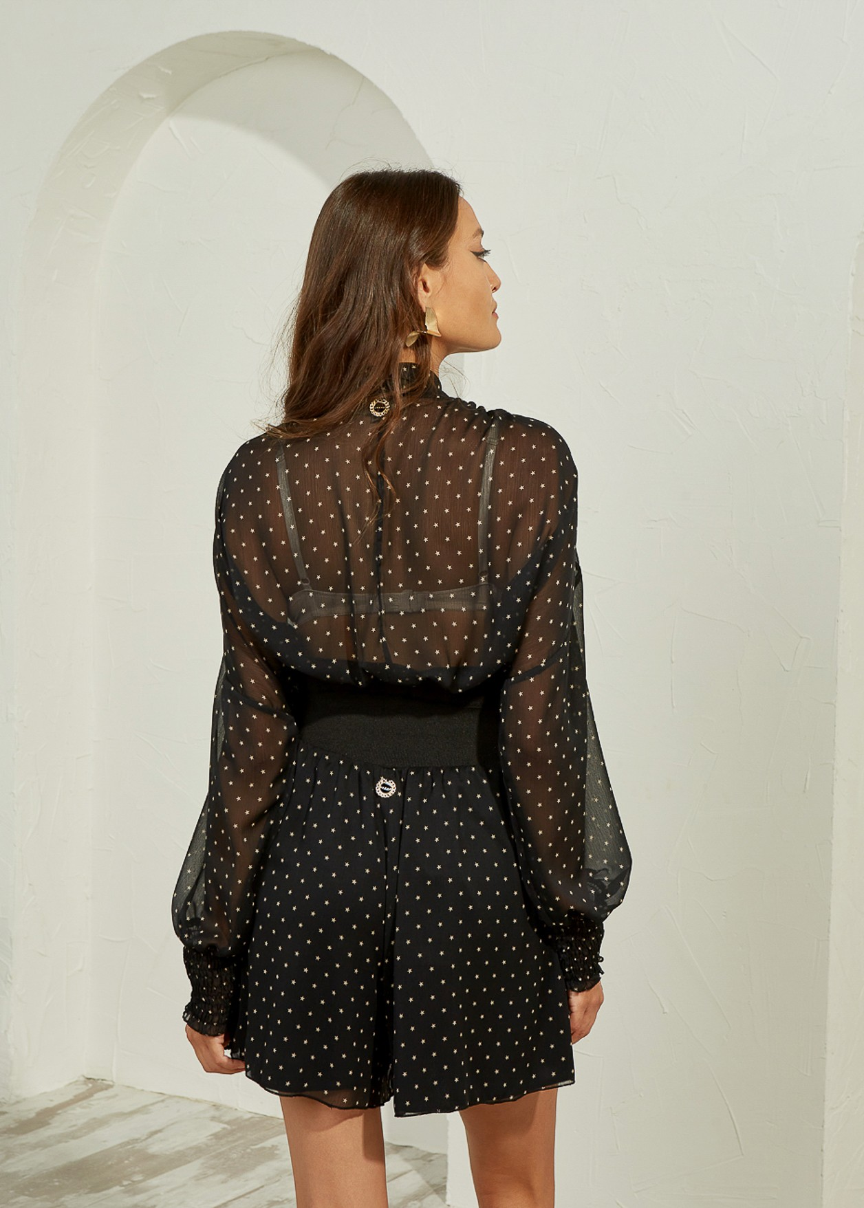 Blouse with star print