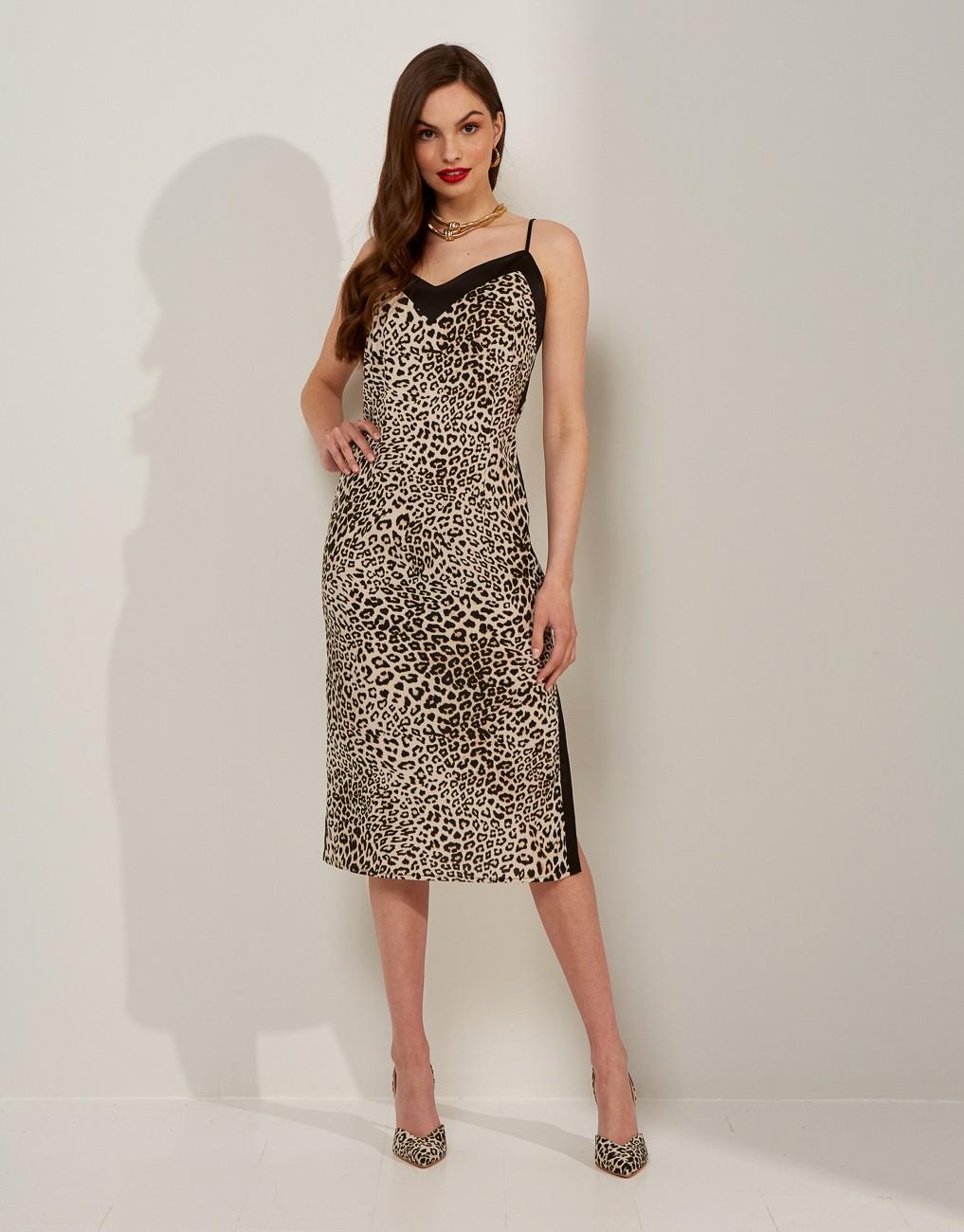 Midi animal print dress