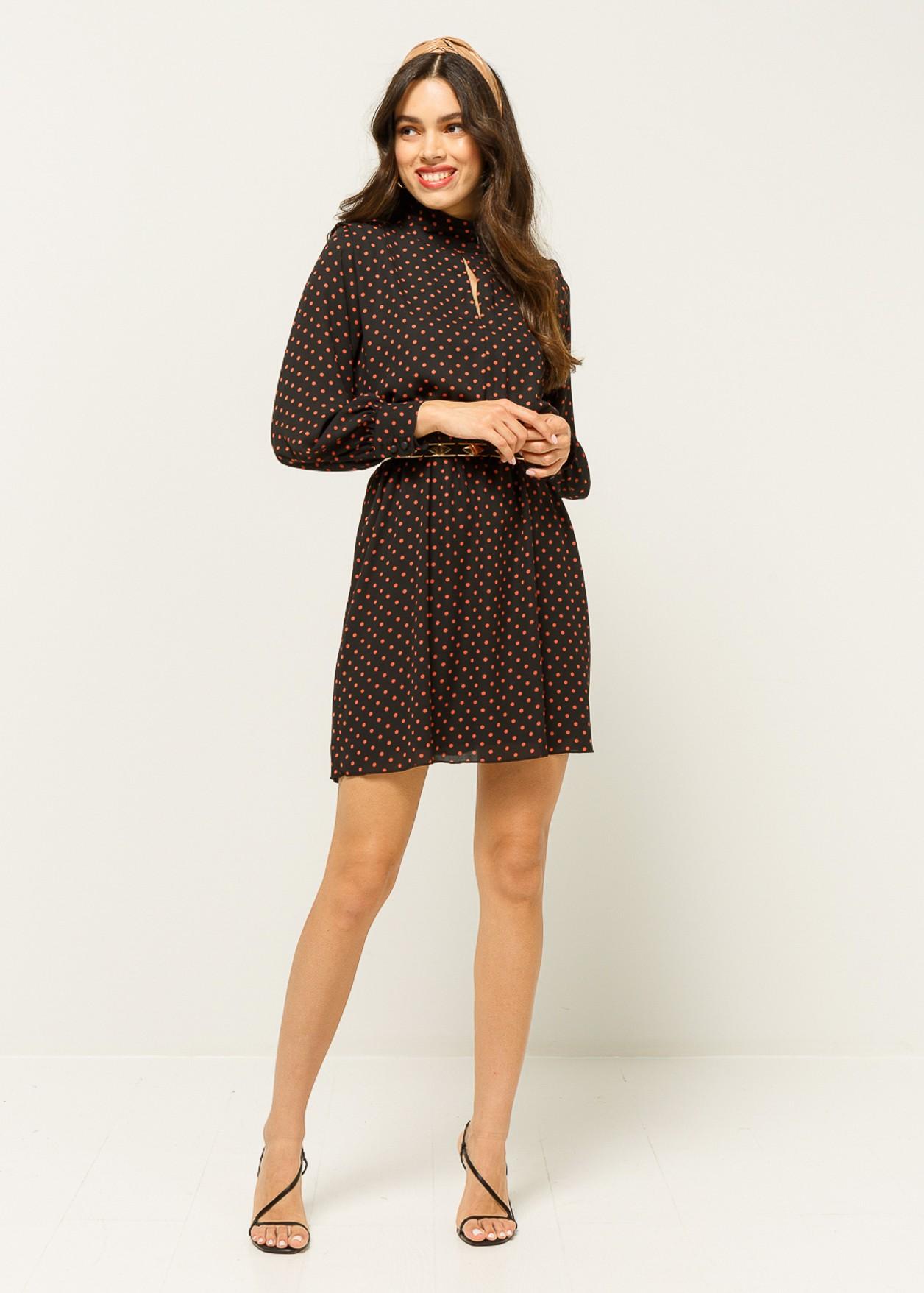 Mini dress with polka dots