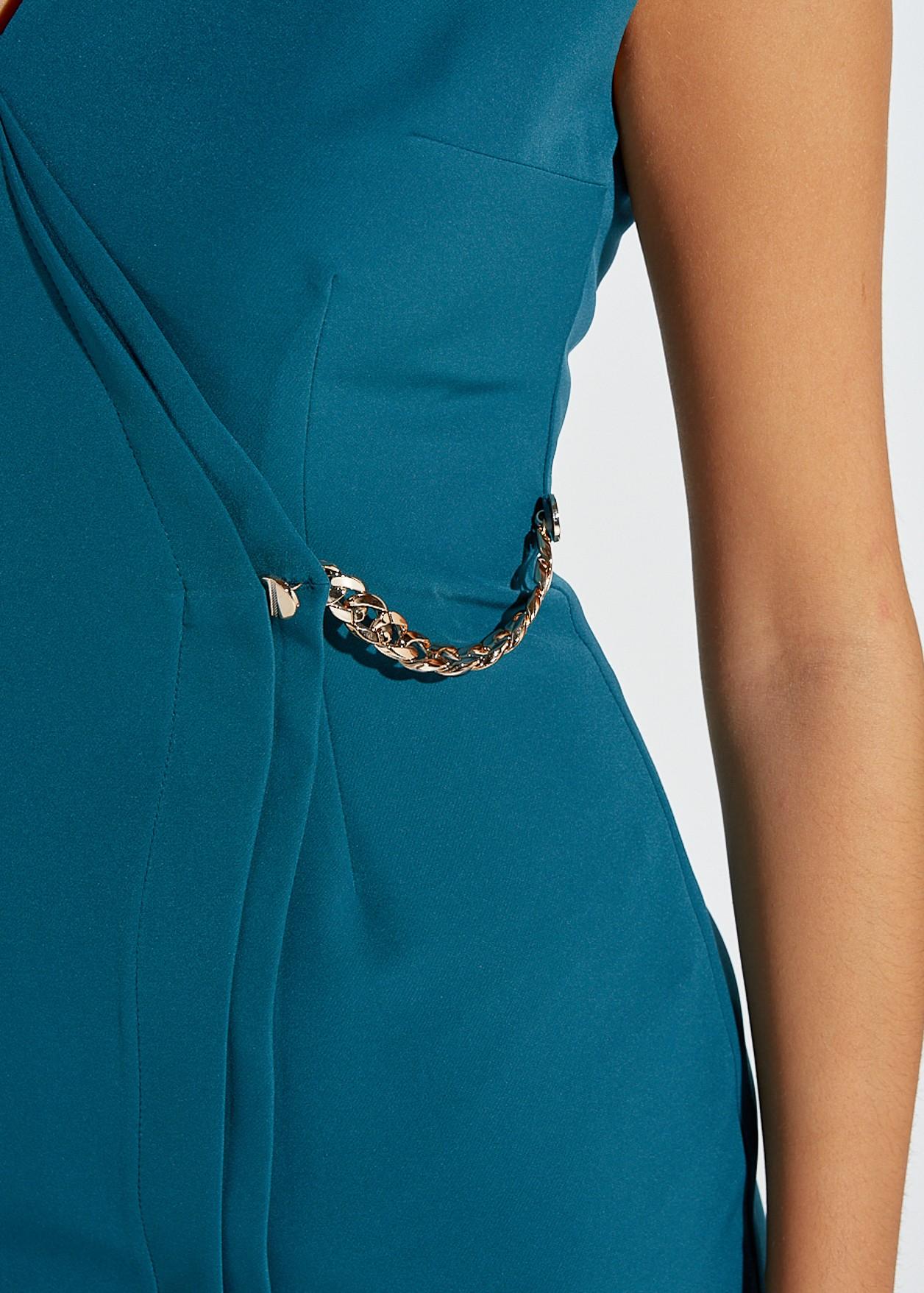 Къса рокля с верижка